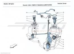 Ferrari 458 Spider FUEL SYSTEM PUMPS AND PIPES