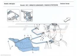 Ferrari 458 Spider FUEL TANKS - FASTENERS AND GUARDS