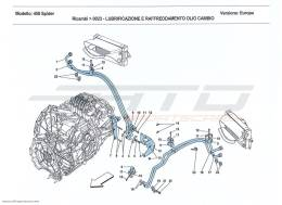 Ferrari 458 Spider GEARBOX OIL LUBRICATION AND COOLING SYSTEM