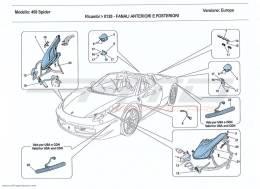 Ferrari 458 Spider HEADLIGHTS AND TAILLIGHTS