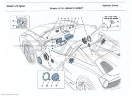 Ferrari 458 Spider HI-FI SYSTEM
