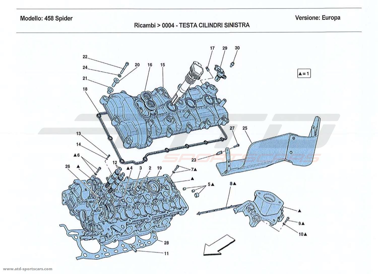 LEFT HAND CYLINDER HEAD