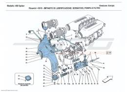 Ferrari 458 Spider LUBRICATION SYSTEM TANK, PUMP AND FILTER