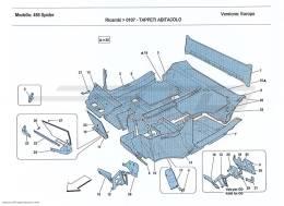 Ferrari 458 Spider PASSENGER COMPARTMENT MATS