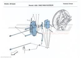 Ferrari 458 Spider REAR BRAKE CALLIPERS