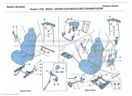 Ferrari 458 Spider SEATS - SEAT BELTS, GUIDES AND ADJUSTMENT
