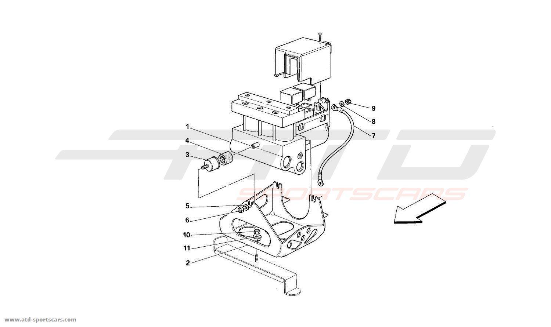 Ferrari 512M ABS HYDRAULIC CONTROL UNIT