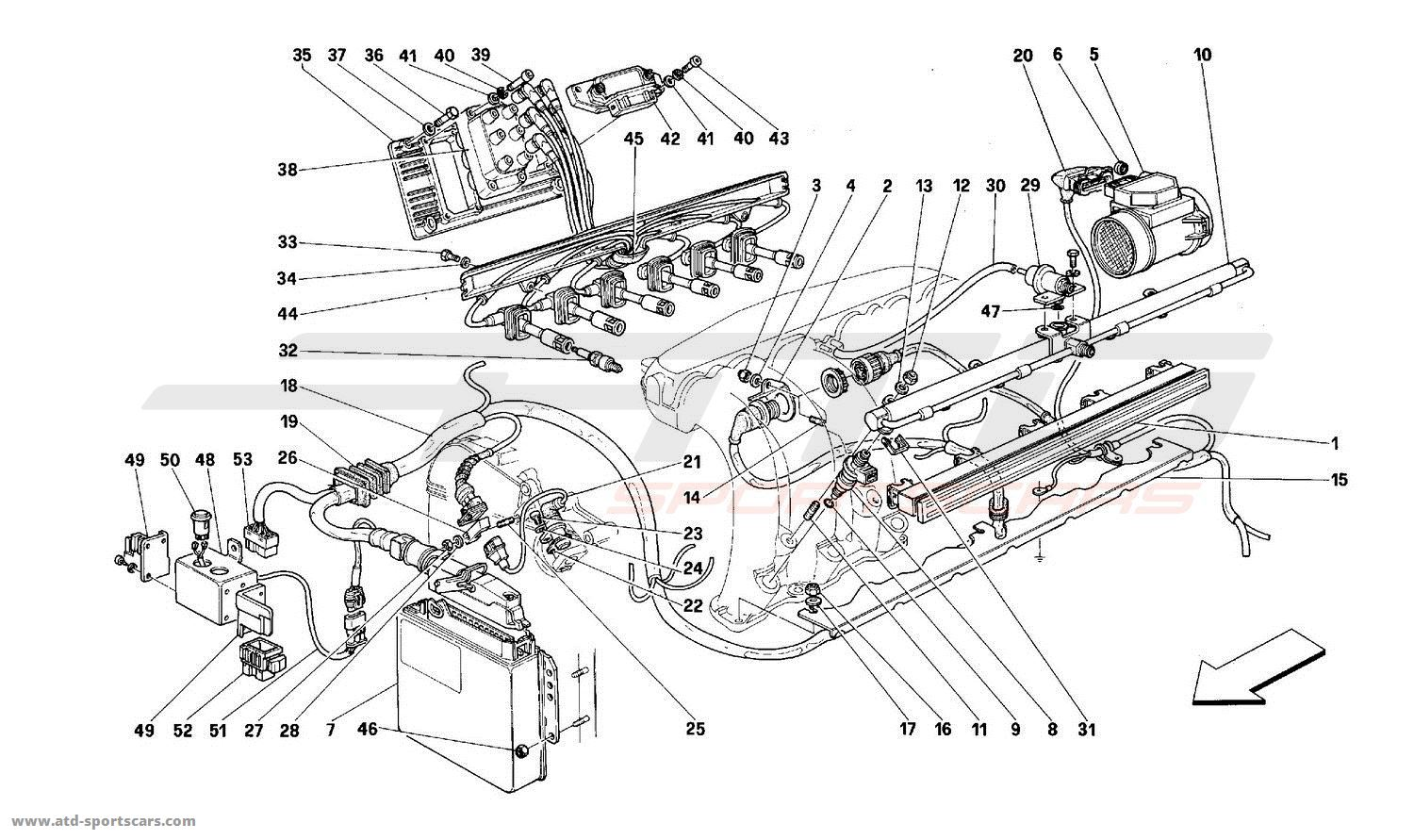Ferrari 512M AIR INJECTION - IGNITION