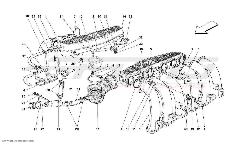 Ferrari 512M AIR INTAKE MANIFOLDS