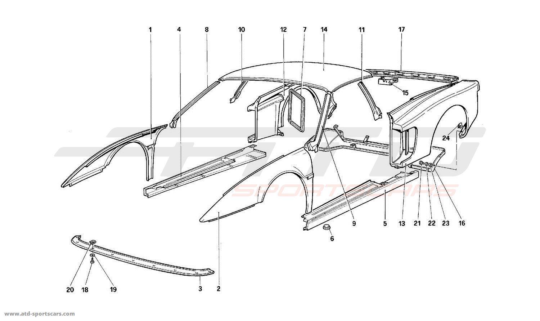 Ferrari 512M BODY - EXTERNAL COMPONENTS