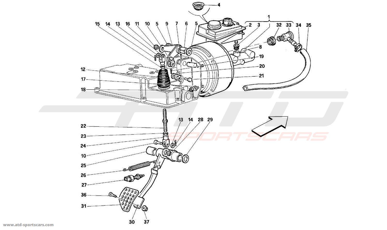 Ferrari 512M BRAKE HYDRAULIC SYSTEM