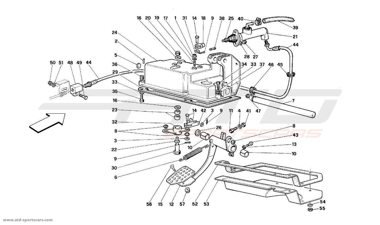 Ferrari 512M CLUTCH CONTROLS