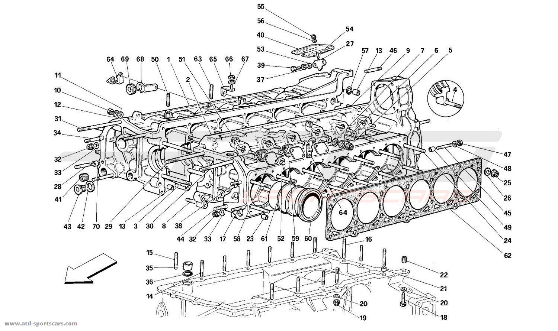 Ferrari 512M CRANKCASE