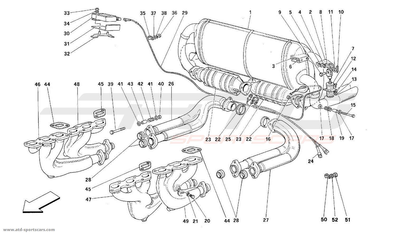 Ferrari 512M EXHAUST SYSTEM