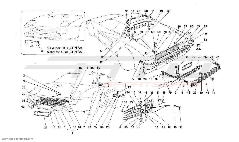 Ferrari 512M EXTERNAL FINISHING