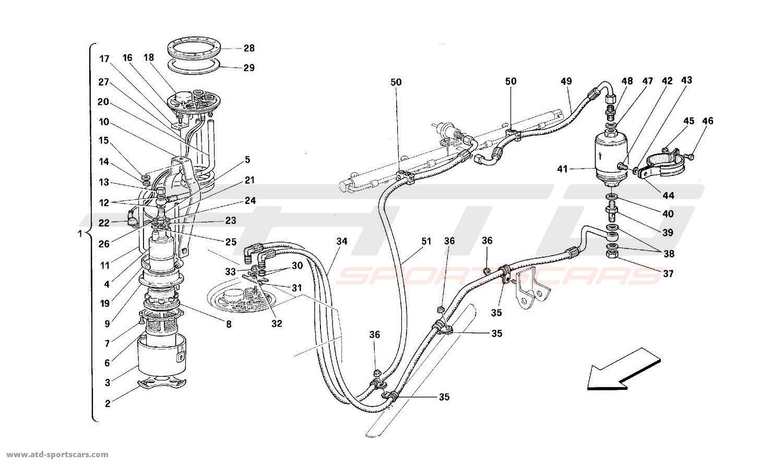 Ferrari 512M FUEL PUMP AND PIPES