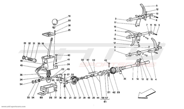 Ferrari 512M GEARBOX CONTROLS