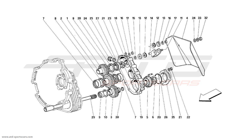 Ferrari 512M GEARBOX TRANSMISSION