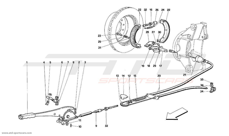 Ferrari 512M HAND - BRAKE CONTROL