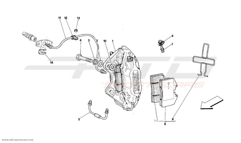Ferrari 512M REAR BRAKES CALIPERS