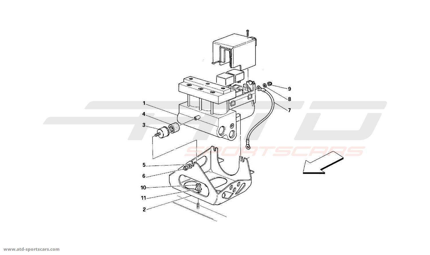 Hydraulic Control Unit Diagram Valve Ferrari 512 Tr For Wiring Abs Parts At Atd Sportscars Flow