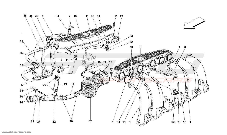 Ferrari 512TR AIR INTAKE MANIFOLDS