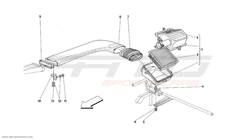 Ferrari 512TR AIR INTAKE