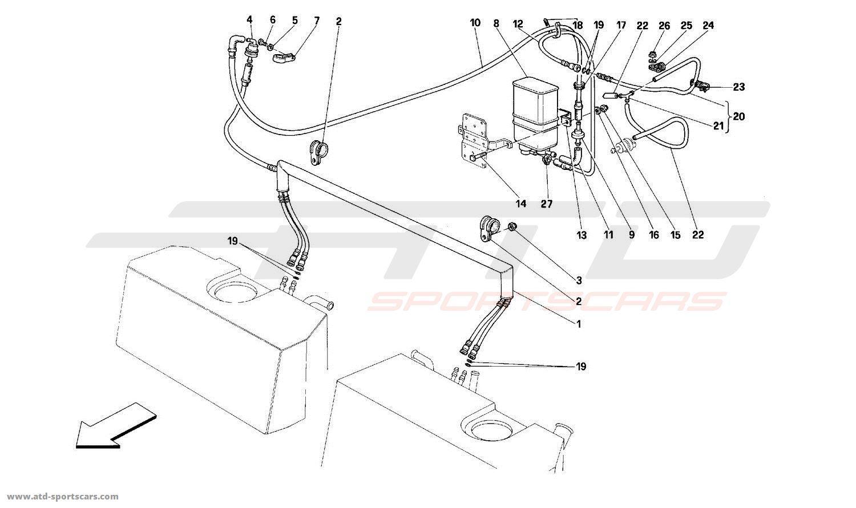 Ferrari 512TR ANTI-EVAPORATIVE EMISSION CONTROL SYSTEM