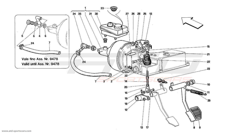 Ferrari 512 TR BRAKE HYDRAULIC SYSTEM