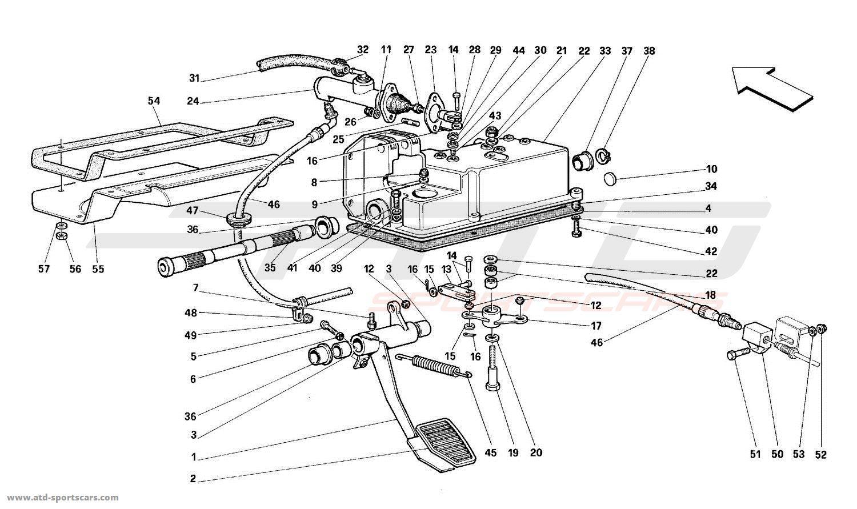 Ferrari 512TR CLUTCH CONTROLS