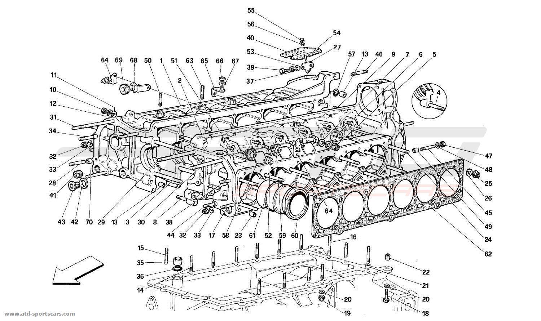 Ferrari 512TR CRANKCASE