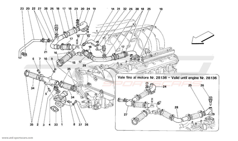 Ferrari 512 TR ENGINE COOLING