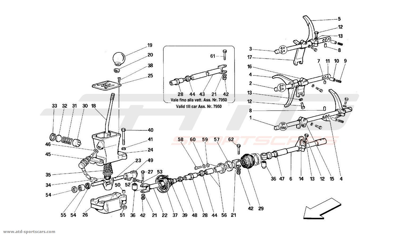 Ferrari 512TR GEARBOX CONTROLS