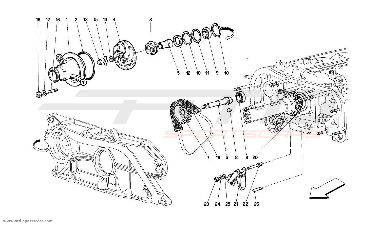 Ferrari 512 TR WATER PUMP