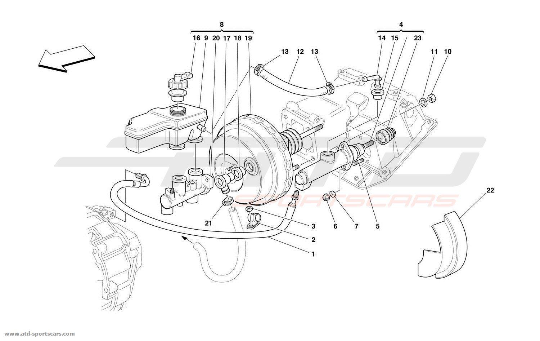 Ferrari 550 Maranello Gearbox Clutch Parts At Atd Sportscars Hydraulic System Diagram Brake And