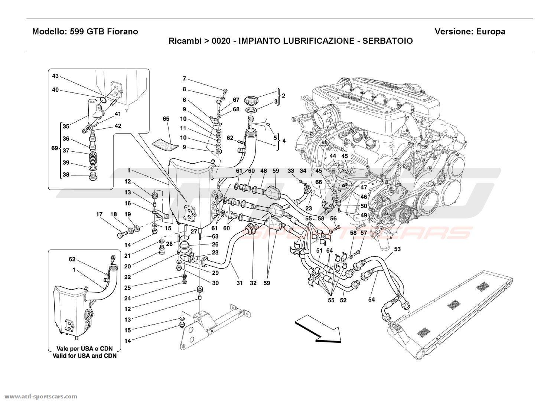 Ferrari    599       GTB    Fiorano Engine parts at ATDSportscars   ATDSportscars