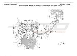 Ferrari 612 Scaglietti AIR CONDITIONING SYSTEM - FREON PIPES