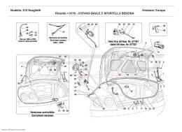 Ferrari 612 Scaglietti BOOT DOOR AND PETROL COVER