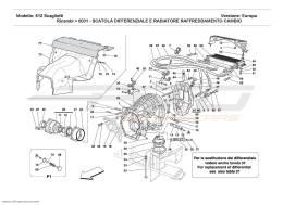 Ferrari 612 Scaglietti DIFFERENTIAL CARRIER AND CLUTCH COOLING RADIATOR