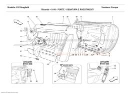 Ferrari 612 Scaglietti DOORS - FRAMEWORK AND COVERINGS