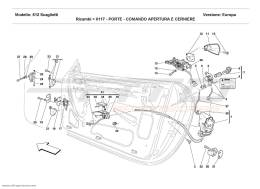Ferrari 612 Scaglietti DOORS - OPENING CONTROL AND HINGES