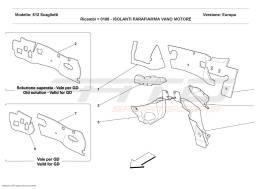Ferrari 612 Scaglietti ENGINE COMPARTMENT FIRE-PROOF INSULATIONS