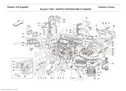 Ferrari 612 Scaglietti EVEPORATOR UNIT AND CONTROLS