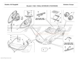 Ferrari 612 Scaglietti FRONT AND REAR LIGHTS