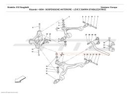 Ferrari 612 Scaglietti FRONT SUSPENSION - WISHBONES AND STABILIZER BAR