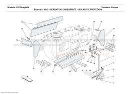 Ferrari 612 Scaglietti FUEL TANK -INSULATION AND PROTECTION