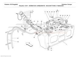Ferrari 612 Scaglietti FUEL TANK - UNION AND PIPING