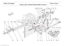 Ferrari 612 Scaglietti INSIDE GEARBOX CONTROLS