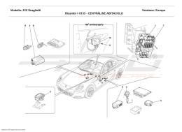 Ferrari 612 Scaglietti PASSENGERS COMPARTMENT CONTROL STATIONS