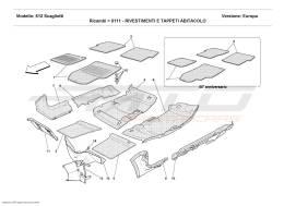 Ferrari 612 Scaglietti PASSENGERS COMPARTMENT UPHOLSTERY AND CARPETS
